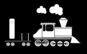 Spiegel-Express Locomotief +Spiegel + koffer