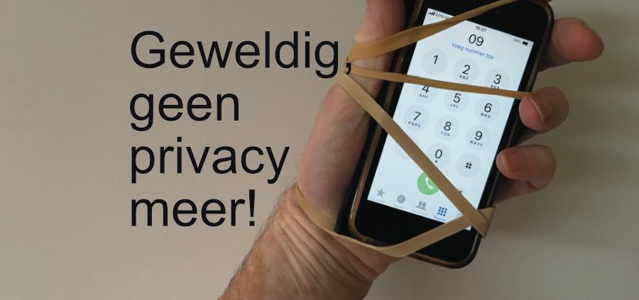 Geen privacy meer geweldig. Spiegel-Express