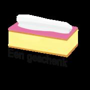Een geschenk (Tompoes gebak) Spiegel-Express