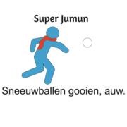 Sneeuwballen gooien, auw. Super Jumun Spiegel-Express